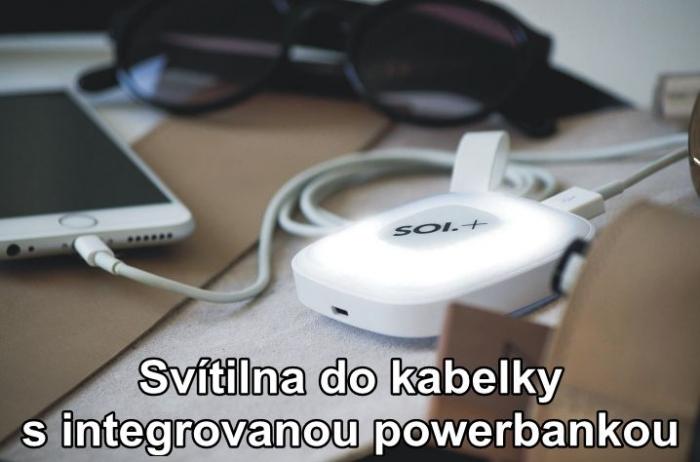 Svítilna do kabelky s integrovanou powerbankou
