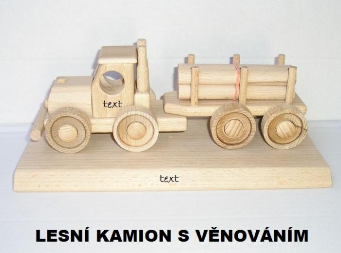 Lesní kamion hračky darky pro řidiče