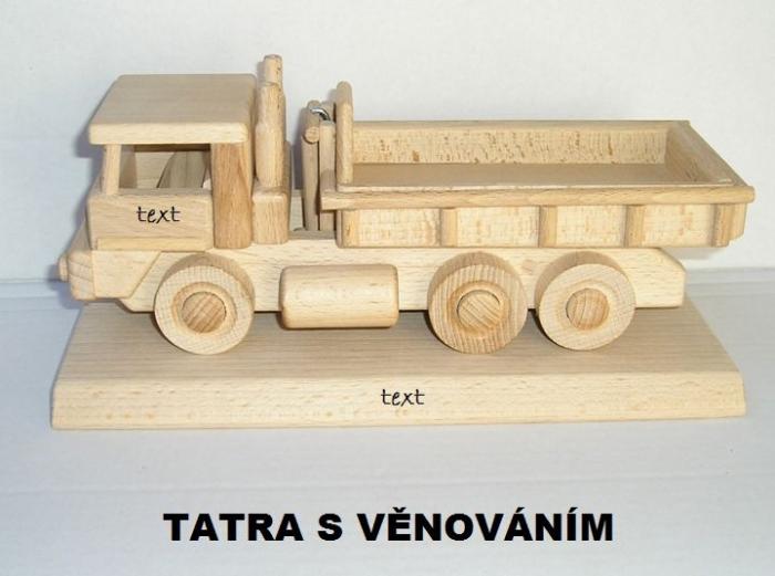 auto dřevěné dárky k výroči narozeninám