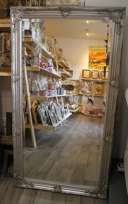 Zrcadlo stříbrné na zeď, obchod Veselí nad Moravou