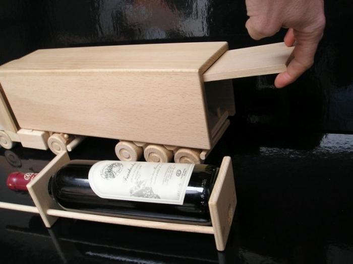 Dřevěný Vino kamion