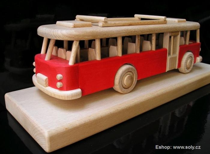 Červený autobus dárek