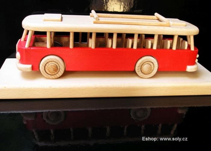 Červený autobus hračka firemní dárek