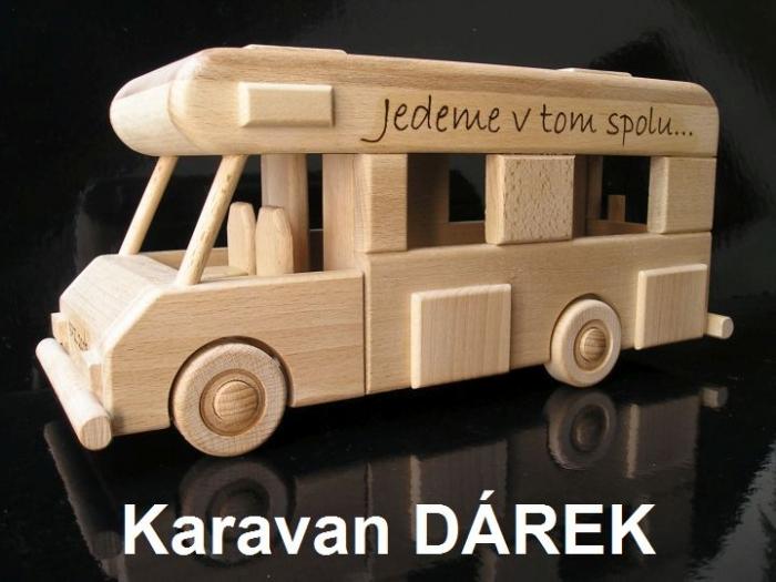 Dřevěné hračky karavan