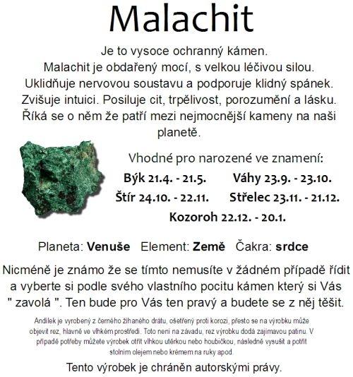 Znamení zvěrokruhu kámen Malachit