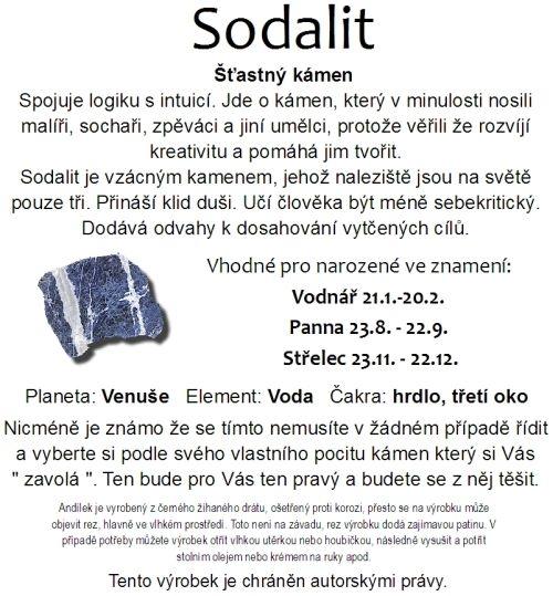 Znamení zvěrokruhu kámen Sodalit