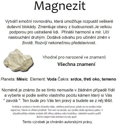 Anjelik ochranca magnezit s kameňmi