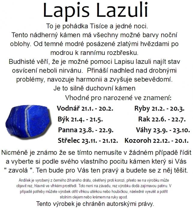 Lapis Lazuli kámen horoskop