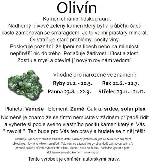 Olivín je kámen chránící lidskou auru