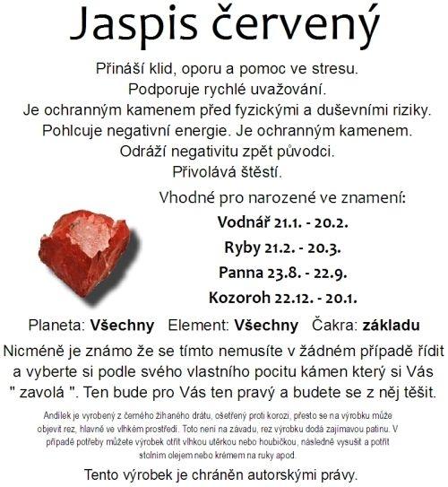 Jaspis červený přináší klid, oporu a pomoc ve stresu