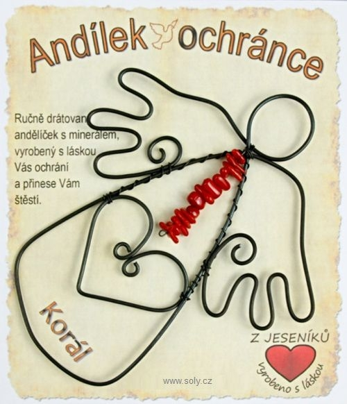 Anděl z drátu, co posiluje pohybový systém a to zejména kostí