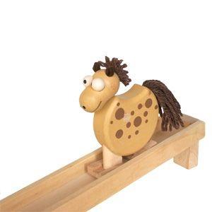 chodící  koník na liště hračka