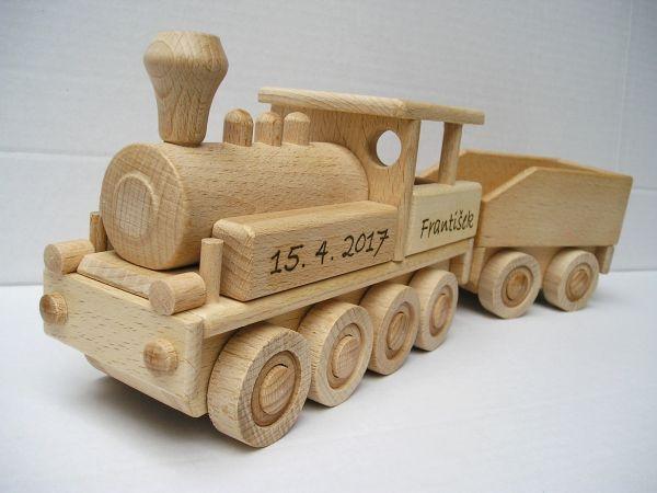 Velká lokomotiva a textovým věnováním