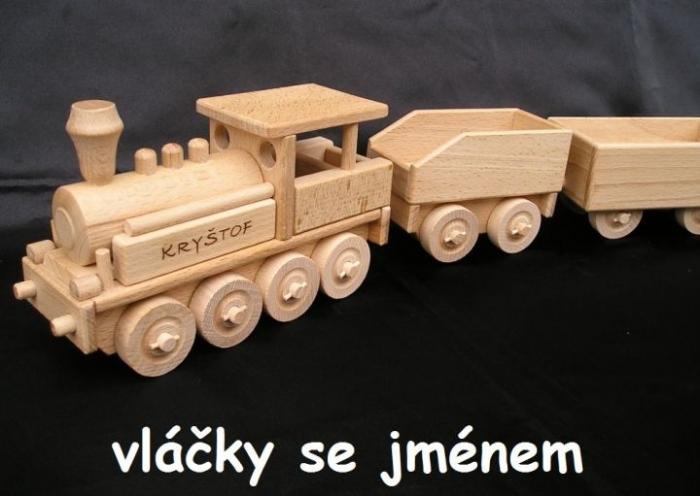 Velká lokomotiva s uhlákem a věnováním