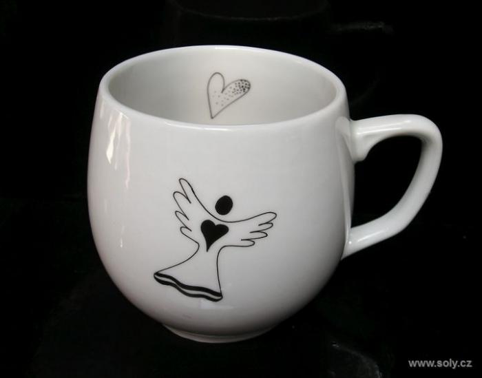Hrníček s andělíčkem, porcelán