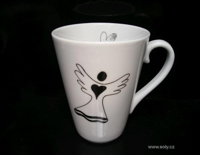 Porcelánový hrnek s andělem 0,4 l