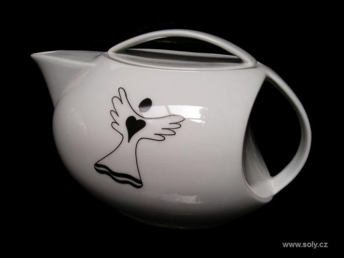 Porcelánová konvice na čaj s motivem