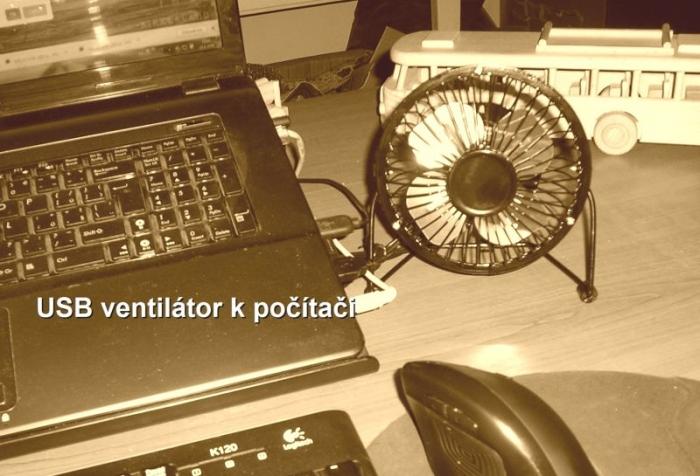usb stolní ventilátor k pc počítači