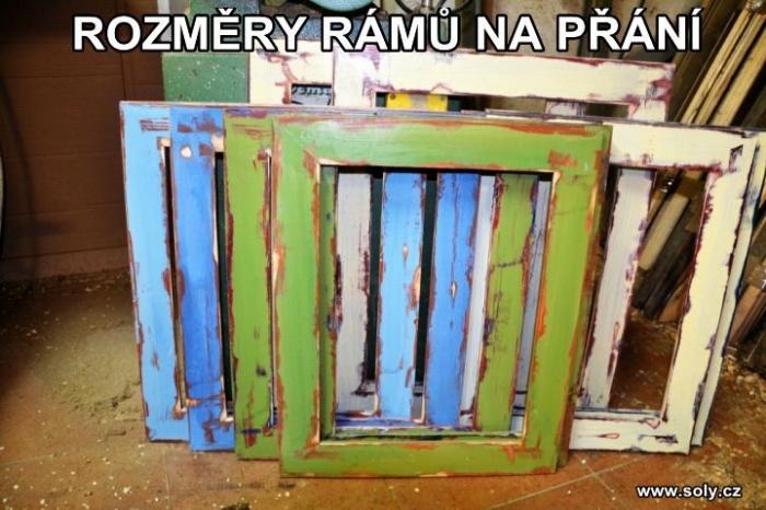 Dřevěné retro rámy na obrazy, fotky, plátna