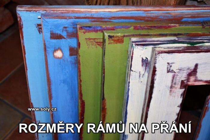 Dřevěné retro rámy na obrazy, fotky