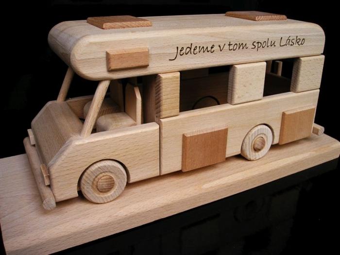 Karavan, obytný vůz, dárek, hračka