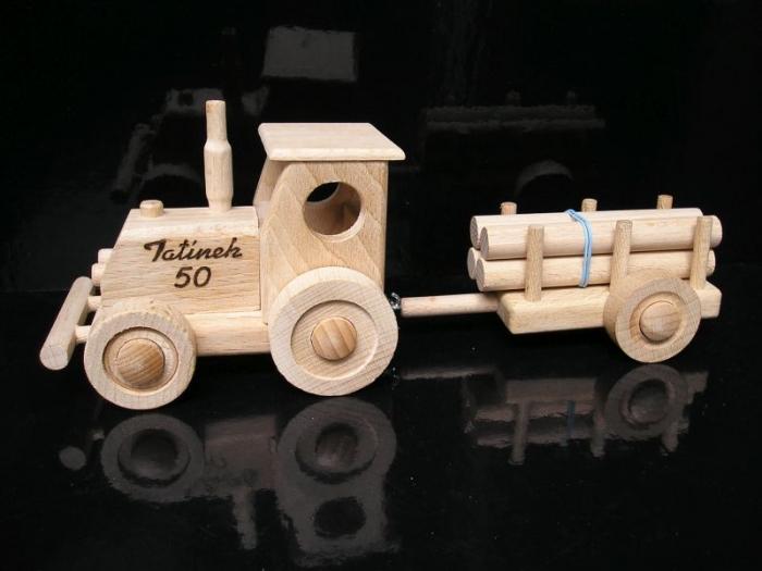 Traktor s vlečkou pro děti