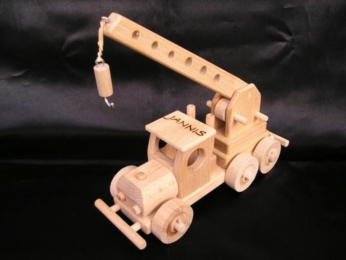 jeřáb hračka dřevěné