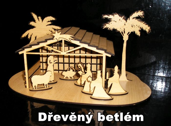 Vánoční dřevěný betlém