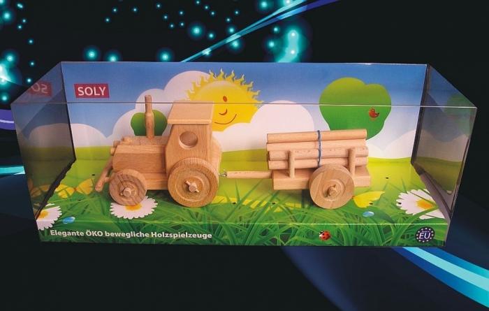 Dětský dřevěný traktor
