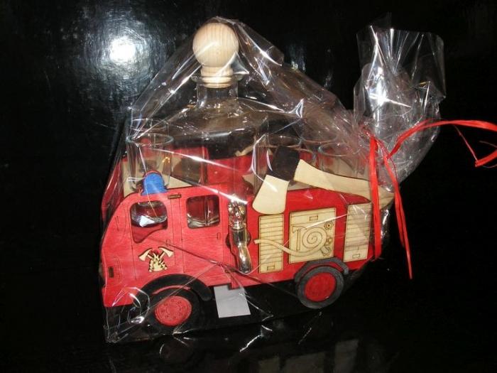 Dárková láhev hasič, požárníci