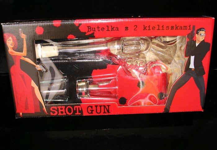 Dárková láhev na alkohol pistol