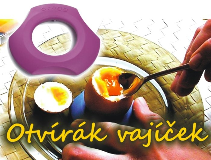 loupání vařených vajec