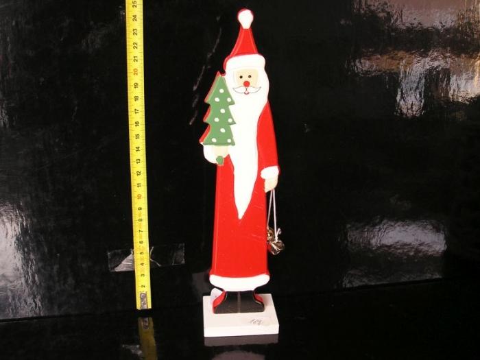 Dekorační dřevěná postava Santa Klause
