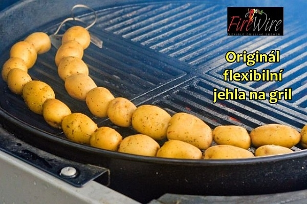 Grilovací jehla FireWire pro grilování masa a zeleniny