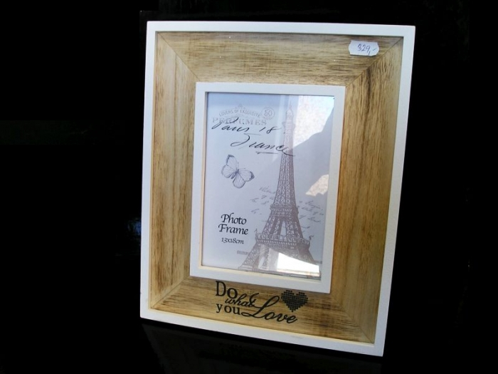 13x18 cm fotorám Paříž dřevěný hnědý bílý