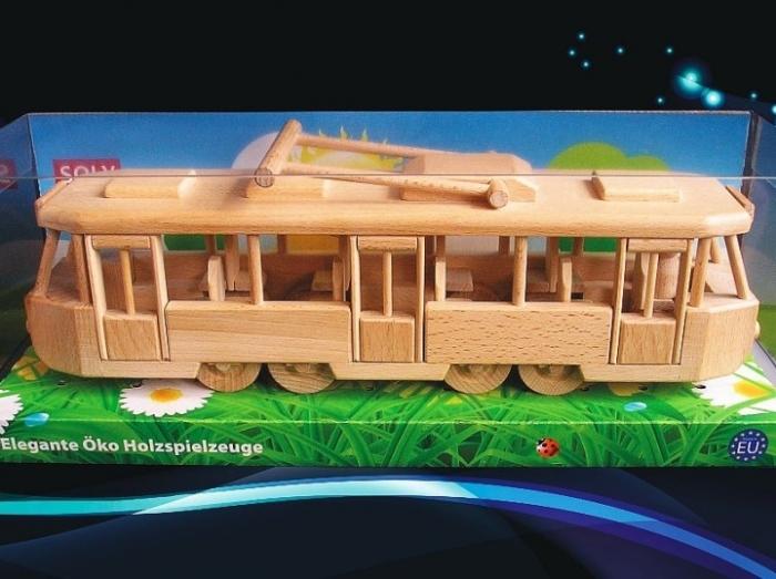 Tramvaj - dřevěné hračky