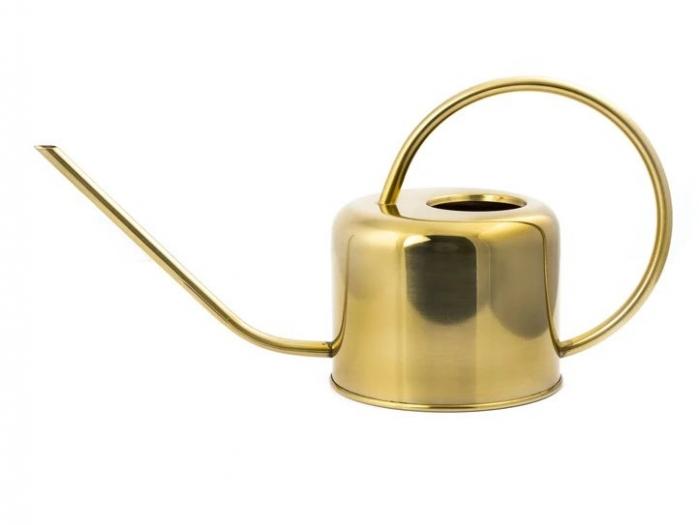 Luxusní zlatá zalévací konvička konev na květiny