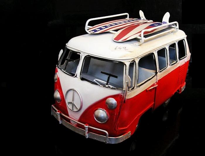 Hippies dodávka VW transporter Bulli, dekorace