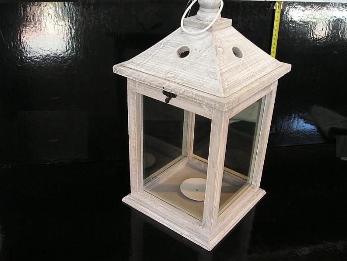 Velká bílá dekorační lucerna