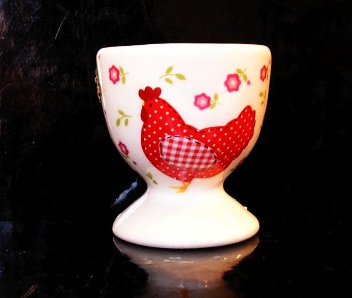 Stojánek na vařená vejce, keramický červenýStojánek na vařená vejce, keramický červenýStojánek na vařená vejce, keramický červenýStojánek na vařená vejce, keramický červený