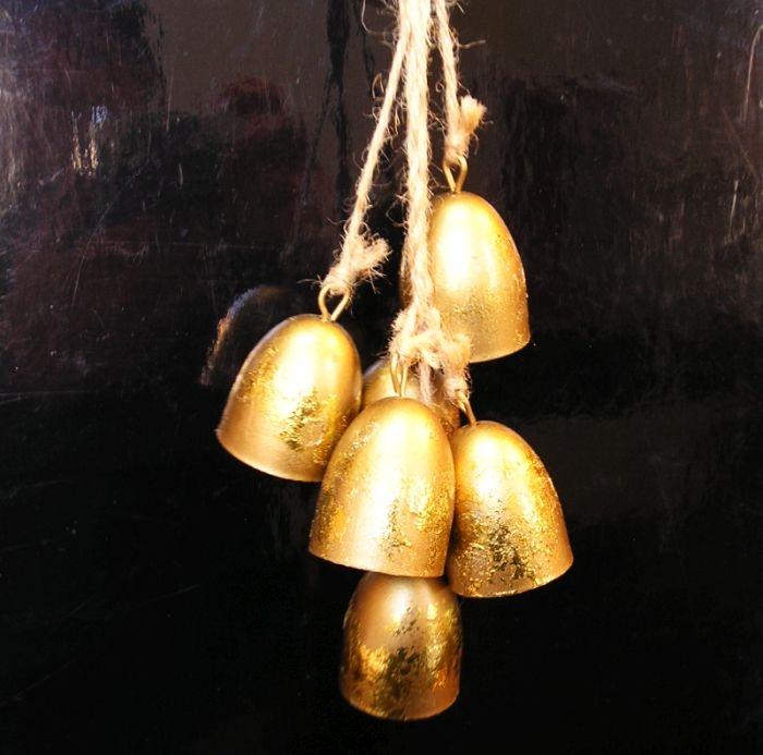 Zlaté kravské zvonce, zvonky, závěsná dekorace