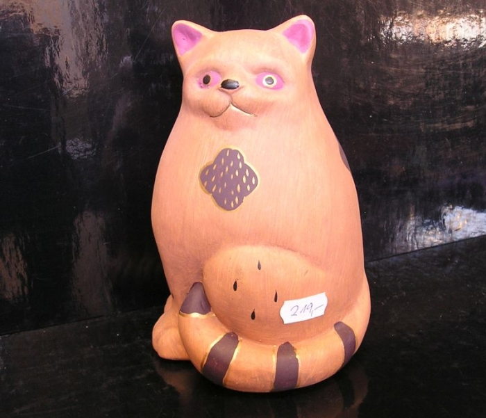 Kočka, bytové dekorace, dárek kočika