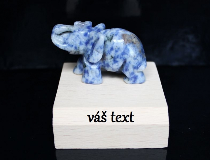 Symboly štěstí slon sodalit polodrahokam
