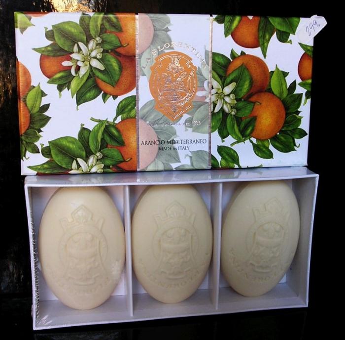 Luxusní vonné Italské mýdlo pomeranč DÁREK