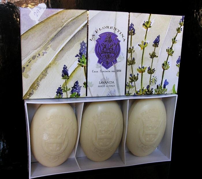 3x Luxusní levandulové vonné Italské mýdla