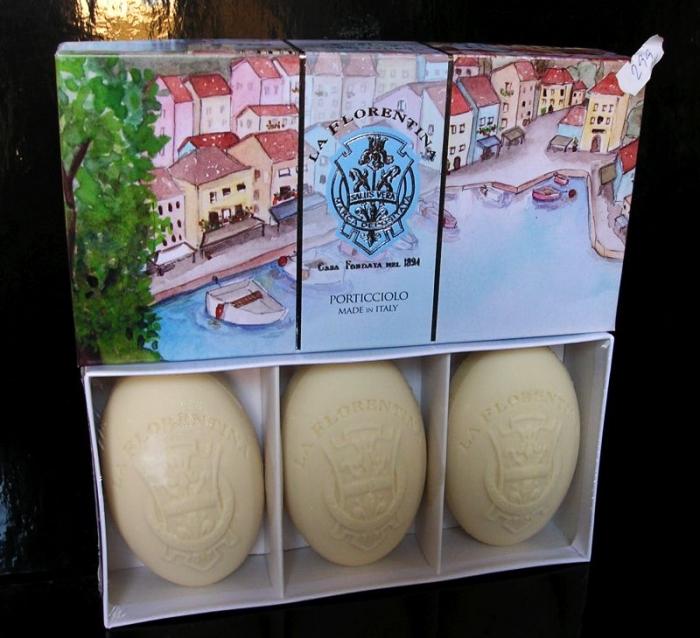 3x Luxusní Florencie vonné Italské mýdla