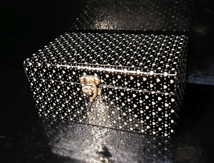 dekorační krabička, box, škatulka, truhlice, šperkovnice