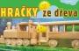 Dřevěná lokomotiva s vagonem