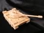 Hračka tank ze dřeva, na hraní