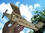 Dřevěné letadlo s laser textem